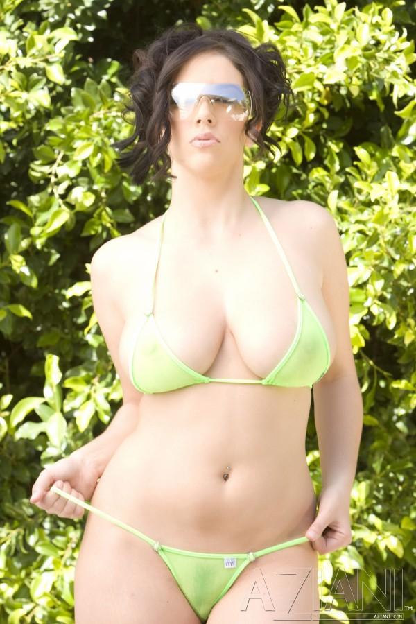 Jelena jensen wet sheer bikini