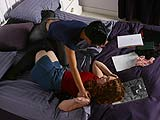 Watch two lesbian college girls practicing their theory
