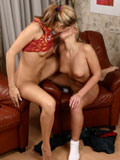 Watch beautifully shaven lesbian teens toying thier pussies