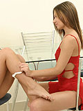 Lesbian lovers passionately  pleasure each others pussie
