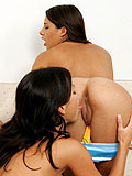 Sensual passionate lesbians suck pussy and cuddle and kiss