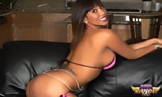 Ava Devine Hot Pink Bikini!