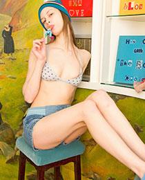 Hot busty teen stripping