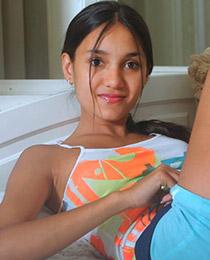 Busty brunette teen