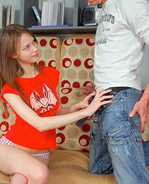 Nasty teen getting banged