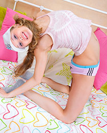 Flexible teen in action