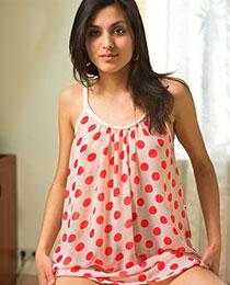 Leila posing naked