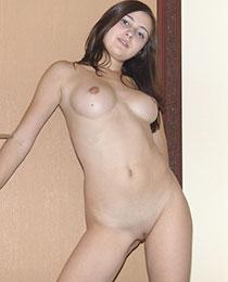 Delicious brunette lady
