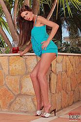 Brunette babe Monika posing naked