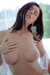 Slender busty Gretta posing naked