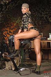 Hot military blond machine fucked