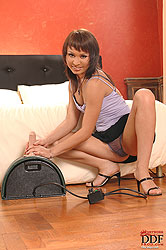 Grinds and rides against the Sybian