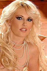 Classy blonde babe teasing herself