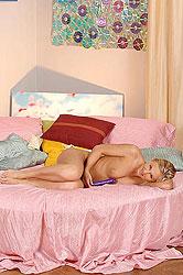 Hot teen Barbie Night masturbating