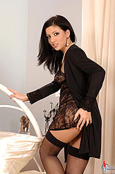 Krisztina Banx using a glass dildo