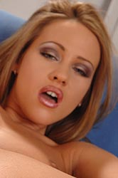 Tereza Fox using a wodden vibrator