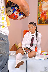 Sexy schoolgirl Viva in hardcore