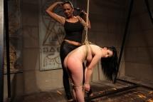 Mandy Bright and Estella in lezdom BDSM action