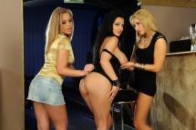 Very hot busty pornstars in a lesbian threesome