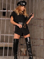 Alysha in naughty asshole fucking action in a jail