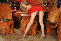 Gorgeous young blonde babe bibi Noel is dildoing