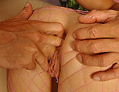 Horny blonde Gitta is trying a new cock to her ass