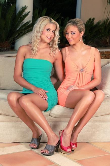 Brandy Smile and Natalia Forrest in lesbian scene
