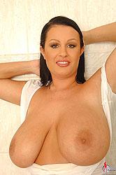 Babe LaTaya showering her huge tits