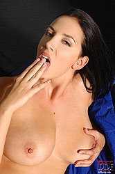 Busty Jelena Jensen masturbating