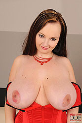 Denisa Fione showing her big boobs