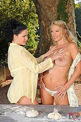 Nikita & Shione having sex outdoors