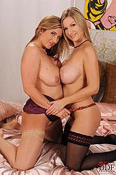 Lesbian babes Carol & Jenny Badeau
