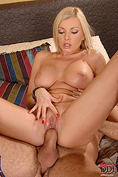 Dona fucked in tits, mouth & pussy