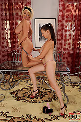 Lola & Sandy shameless busty lesbo!