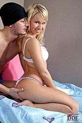Slim blonde Jessica Miller fucked