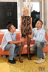 Hot threesome with two men & Tanya