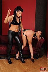 Kassey Krystal & Sandra spanking
