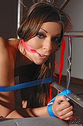 Bound Debbie White toyed & spanked