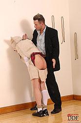 Hot schoolgirl Miho Lechter spanked