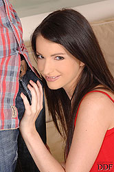 Sexy Ann Marie La Sante sucks cock