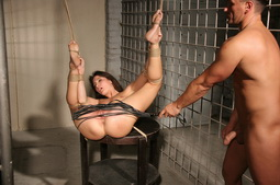 This young gal has never done hardcore BDSM before