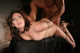 White skin gal dominated in hardcore bdsm action