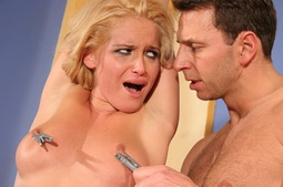 Blonde Kathia Nobili in a hardcore BDSM maledom