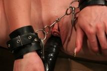 Very busty blonde Natasha Brill in a BDSM maledom