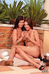 Hot Megan & Monika fingering pussy