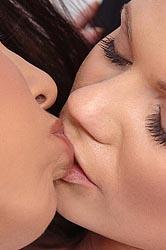 Two kinky latex lesbians having sex