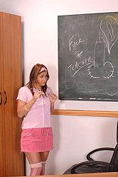 Hot teacher fingers her student off