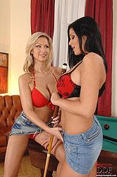 Lesbians Carol & Christina Jolie