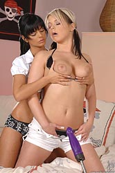 Sexy Black Angelica & Daisy Dolce
