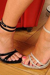 Hardcore lesbian foot fetish action
